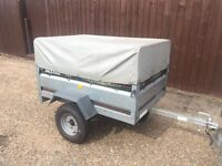 Larger Daxara 148 tipping trailer + Extension kit + new spare wheel