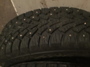 195 65 15 Studded winter tires on 5x114.3 rims