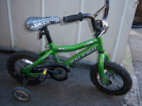Kids Raleigh Bicycle with training wheels