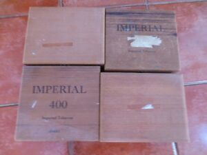 4 boites de cigar en bois balsam(?) cigar boxes light wood