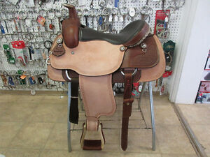 New Western Rawhide 16in  Roping Saddle