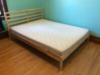 Ikea Bed Frame and Brand New Mattress - Queen Size