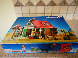 Large vintage Playmobil Farm House 3716