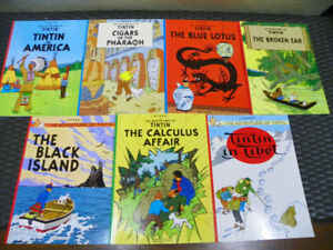 Lot of 7 Tintin Graphic Novels - Like New Condition