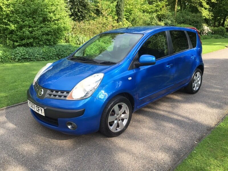 2007 07 plate nissan note 1 6 sve 5dr hatch in blue met in stockport manchester gumtree. Black Bedroom Furniture Sets. Home Design Ideas