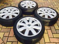"Genuine 17"" BMW Mini Cooper S Clubman ""Crown"" Refurbished Alloy wheels & 205/45/17 Tyres"