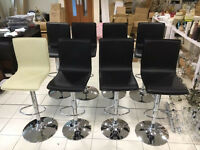 Height adjusting Bar Stools with swivel function and foot rest only £30 each