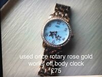 Perfect Christmas present rotary rose gold watch