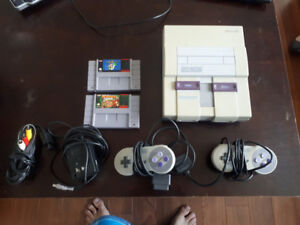 Snes original 2 manette 2 jeux