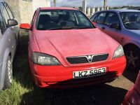 2004 Vauxhall Astra, 1.6 petrol, breaking for parts only, postage nationwide.