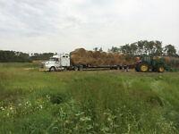 Custom bale hauling. Hay hauling