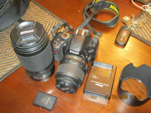 nikon d5100 complete kit and a 70-300 lens