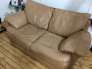 Genuine Leather Loveseat, Free for Pick-up