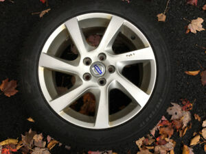 """17"""" Alloy Rims Mounted With Michelin Snow Tires"""