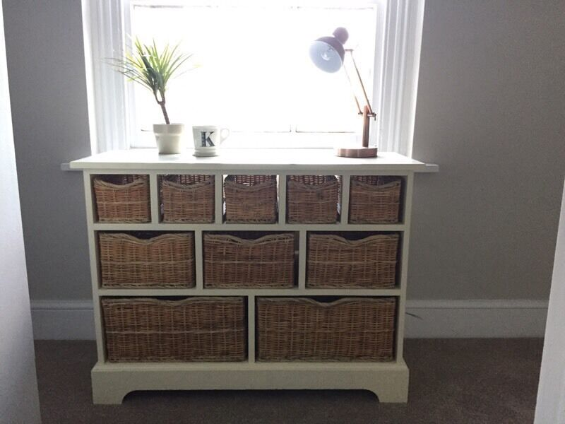 Cream Solid Wood Chest Of Drawers/Merchant Chest/Sideboard ...