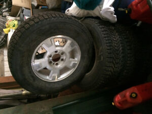 Like new studded winter tires