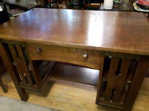 Antique Mission Oak Library Desk