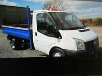 2009 Ford Transit 2.4TDCi Duratorq 100PS 350 MWB TIPPER NO VAT 141K (DUE IN)