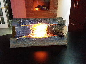 """Antique Vintage Electrical Fireplace Logs Real nice20' x 9"""" x 9"""" Cornwall Ontario image 2"""