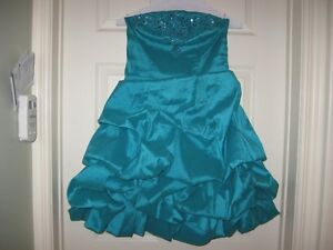 beaded strapless prom dress size small