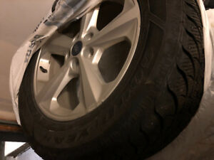 Original Ford Edge winter tires with mags