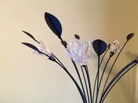 Tall Flower & Leaf Effect Floor Lamp (Dimmable)