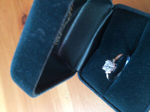 Beautiful princess cut Canadian diamond ring