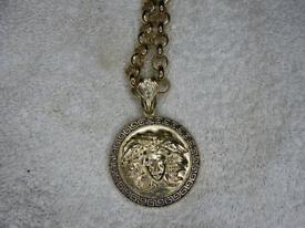 Medusa Head Pendant on large belcher chain