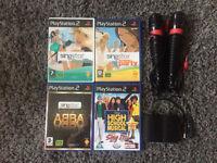 PS2 Singstar Microphones & Games