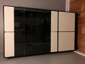 Modern Cabinet / Hutch with Glass Doors