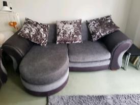 2 x large grey sofas