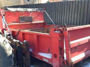 Used steel dump body