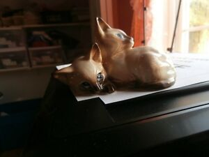 Beswick Porcelain Siamese Kittens Figurine at KeepSakes