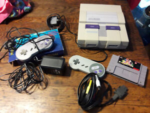 Super Nintendo (SNES) Console, Power Rangers Game, 2 Controllers