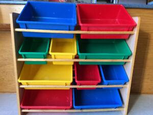 Bacs de rangement pour jouets d'enfant