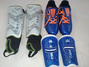 Kids Soccer shoes USA1,20cm,shin guards