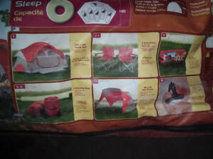 8 Piece Family Tent Combo For 6