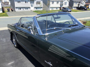 Antique 1965 Ford Mustang Convertible.