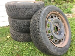 Winter tires and steel wheels 205/55R16