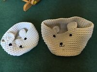 Stunning woven strong storage for children bears face