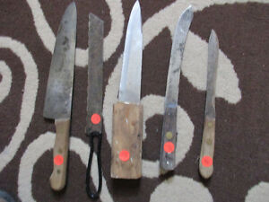 Old knives $4.00 - $5.00 each