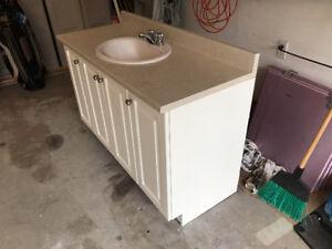 Used Bathroom Vanity, Countertop, Sink & Taps!