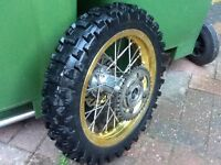 Pit bike back wheel