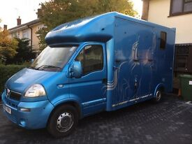 3.5t Vauxhall Movano Horsebox [Bentley Blue] 2014 Build, Manual, 7 Months M.O.T Low Mileage