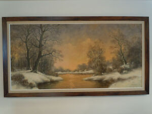 REDUCED!!!!!!!!!! OIL PAINTING - H.KERVER A BEAUTIFUL WINTER LAN