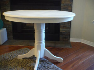 Solid Wood White Dining Table