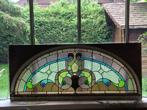 ORIGINAL MAGNIFICENT STAINED GLASS window
