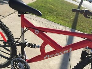 Mountain bike with dual suspension for sale in Ancaster.