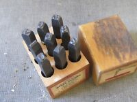 3 SETS CAST IRON STEEL PUNCHES $20 EA. CARPENTER METAL WORKING