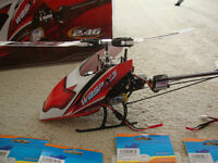 WASP X3S 3 AXIS flybarless helicopter and spares